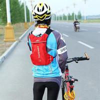 ingrosso portano lo zaino del sacchetto di spalla-2L sacchetti di acqua della bicicletta portatile zaino zaino per bici da escursione all'aperto nero rosso borsa a tracolla campeggio comodo per trasportare 37yy X