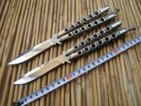 Wholesale Imported Knives - THE ONE Mirror BM42 Butterfly Balisong knife Imported steel 440C Blade Die cast stainless steel handle