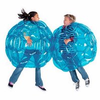 Wholesale Kids Brain Games Toy - Inflatable Bump Ball 90CM PVC Color Optional Outdoor Sport Bubble Soccer Ball Body Zorb Ball Party Favors Brain Game Gifts For Kid