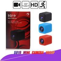 Wholesale Original Mini Cam WIFI Camera SQ13 SQ11 SQ12 SQ19 FULL HD P Night Vision Waterproof shell CMOS Sensor Recorder Camcorder Micro