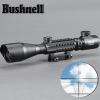 Wholesale BUSHNELL X50 Tactical Optical Rifle Scope Red Green Dual Illuminated Shockproof Scope Fit For mm Rail Hunting Airsoft