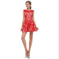 241e926fa Venta al por mayor de Vestido Rojo Corto Elegante Atractivo ...