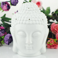 Wholesale birthday head - Buddha Head Candle Ceramics Essential Oil Incense Burner Home Decoration Birthday Gifts