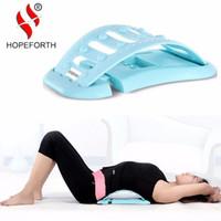 équipement de massage achat en gros de-Hopeforth Mini Back Conseils de stretching Massage Civière Relaxation Three Gear Back Massage Deux couleurs bleu et rose.