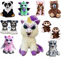 Wholesale pets stuffed animals - DHL face Change Feisty Pets Animals Plush toys cartoon monkey unicorn Stuffed Animals for baby