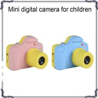 Wholesale camera gift card - High quanlity Mini Kids Camera Cute Kid Creative Neck Mini Digital Cameras for children Birthday Holiday Gift Toy gifts DHL 770044-1