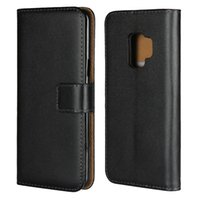 Wholesale genuine samsung phone holder for sale – best Genuine Leather Wallet Case For Samsung S9 A8 S8 Plus Note Credit Card Holder Stand Cover Wallet Flip Phone Cover Case
