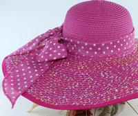 ingrosso cappelli da sole coreani per le donne-2018 Vendita calda Cappello per protezione solare da donna Versione coreana del cappello pieghevole pieghevole da spiaggia Big Eaves Sun Beach Hat
