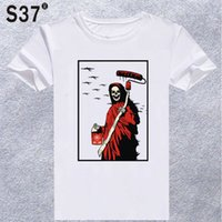 Wholesale wholesale hipster clothes - S37 2018 New Summer Death T shirt Men t-shirt Boys Clothing Hipster Man Fashion Tee shirt Tops #535