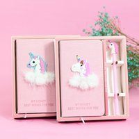 Wholesale student diary - 28 Designs Delicate Diary Stereo Flamingo Unicorn Notebook With Pen Student Lovely Notepad School Supplies NNA364