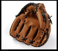 Wholesale baseball equipment for sale - Group buy Outdoor Sports Brown Baseball Glove Softball Practice Equipment Size Left Hand for Adult Man Woman Training