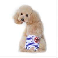 Wholesale cotton dog diapers - Reusable Pet Physiological Pants Female Medium Small Dog Clothes Free shipping