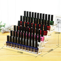 Wholesale Acrylic Jewelry Display Transparent - 66 Grid Acrylic Storage Boxes Transparent Nail Polish Display Stand Wear Resistant Makeup Lipstick Organizer New Arrival 26nd B