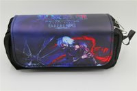 сумка японский аниме оптовых-Japan anime Tokyo Ghoul Pen Bag Anime High-capacity Double Pencil bag Stationery Cosmetic Make-up Bags Cases 2 style