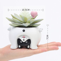 Wholesale mini pots for succulents for sale - Group buy 1pc New Upside Down Animal Resin Planters for Succulents Kawaii Cute Mini Flower Pots for Desktop Bonsai Cartoon