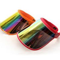 tabuleiros venda por atacado-Pala Viseiras Para O Carro Anti UV Luz Cap PC Sun Chapéu Colorido Board To Ride Sun Visors