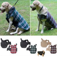 Wholesale british coat clothes for sale - Group buy Reversible Plaid Dog Vest Jacket Clothes Waterproof Windproof British Style Winter Coat Warm Dog Apparel With Collar Xmas Gift HH7