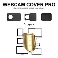 Wholesale china camera systems - 3PCS SET Webcam Cover for Computer MacBook Pro Smartphones Laptop Camera Cover 0.68MM Thin Privacy Sliding Covers Anti-Hacker