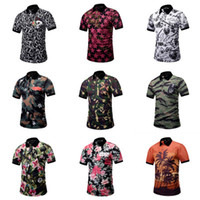 Wholesale men 3d printed t shirts - Summer Short Men Shirt Camouflage Designer 3D Printing Men Polo Shirts Male Funny Beach Style Top Tee Fashion T-shirt