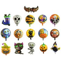 Wholesale pumpkin toys supplies online - Halloween Pumpkin Ghost Balloons INCH Foil Balloons Inflatable Toys helium balloon Globos Party Supplies MMA569