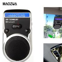 adaptateurs solaires achat en gros de-Solar Power LCD Bluetooth Car Kit Mains Libres Adaptateur AUX Récepteur Mains Libres Haut-Parleur pour Téléphone Mobile Allume-cigare Usb