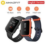 молодежные часы оптовых-Английская версия Xiaomi Huami Amazfit Bip Pace Молодежный смарт-часы Mi Fit 1.28