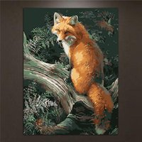 Wholesale Canvas Painting Numbers - Frameless Animal Pictures DIY Painting By Numbers Kits Paint On Canvas Acrylic Coloring Painitng By Numbers For Home Wall Decor