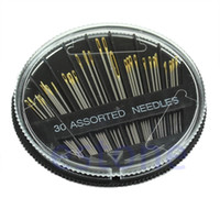 costura de la colcha al por mayor-30PCS Assorted Hand Coser Needles Bordado Mending Craft Quilt cosen la caja