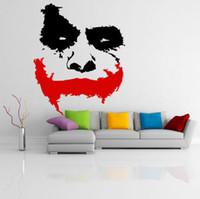 ingrosso decalcomanie in vinile di batman-vinile Adesivi murali Room Decor Art Decalcomanie Carta da parati staccabile Scary Joker Face Movie Batman Il cavaliere oscuro Sticker murale