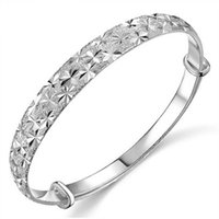 ingrosso braccialetto d'argento d'argento dell'annata-Braccialetto in argento 925 uomini vintage punk rock argento sterling braccialetti per le donne bracciali aperti braccialetti gioielli uomo AY298