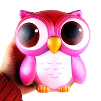 Wholesale owl toys - Squishy 15cm Pink Owl Jumbo Kawaii Squeeze Bird Animal Cute Soft Slow Rising Phone Strap Squeeze Break Kids Toy Relieve Anxiety Fun Gift
