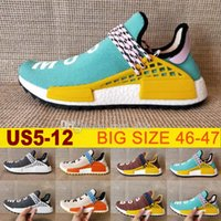 Wholesale High Network - High Quality Pharrell Williams Hu NMD_TR NMD HUMAN RACE Joint Mens Womens Running Shoes Sports Network Men Sneaker Casual Size eur36-47