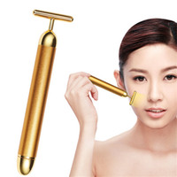Wholesale vibration massager bar for sale - Group buy Hot Energy Beauty Bar K Gold Pulse Firming Massager Facial Roller Massager Beauty Care Vibration Facial Massage Electric