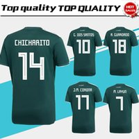 Wholesale Mexico Football Jersey - 2018 world cup Mexico home green Soccer Jersey Mexico home Soccer Shirt 2018 world cup football Uniform Sales