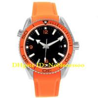 relógios de luxo laranja venda por atacado-4 estilo de luxo de alta qualidade relógio Planet Ocean Co-Axial 600M 42 milímetros Laranja 232.32.42.21.01.001 Ásia 2813 Movimento Automático Mens Watch Watches