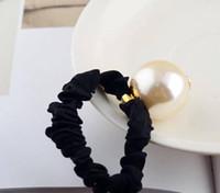 große gegenstände großhandel-Klassischer Art und Weise C bördelt elastisches Haarseil Ladys Ansammlung Einzelteil Art- und Weisehaar-Zusätze große Perle mit Marken Parteiandenken
