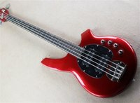 Wholesale music man basses resale online - New Real photos Hot Selling High Quality Active Pickup Musicman Bongo red String Music Man Electric Bass Guitar can be custom