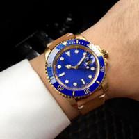 ingrosso quadrante blu automatico dell'orologio di immersione-2018 New Gent's Luxury Dive Watch Lunetta in ceramica Quadrante blu 42mm Orologi automatici da uomo meccanici automatici Orologi da polso all'ingrosso 116610