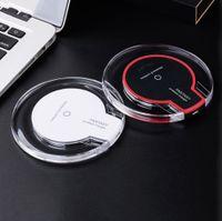 portable iphone charger großhandel-Für iPhone X 8 plus Wireless Ladegerät Universal Qi Wireless Ladegerät Portable Mini Schnellladung für Samsung S6 S7