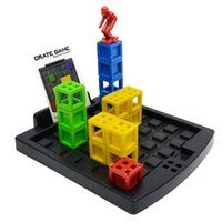 Wholesale fun box games - Children Intelligence Toy Fun Box Buncher Learning Education Desktop Crate Games Mind Challenging Developmental Gift For Kid 17hy W