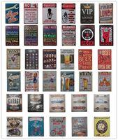 temas de arte al por mayor-Placa de Metal retro diferentes temas cerveza Motor Vintage Craft Cartel de chapa Retro Metal Pintura Poster Bar Pub Wall Art G236