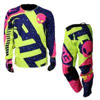 motosiklet yarış çocukları toptan satış-ETBIKE Çocuklar Motocross Yarışı Motosiklet Motosiklet Off Road Sürme Forması Pantolon Çocuk Bisiklet Bisiklet Giyim Seti Suits