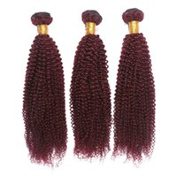 Wholesale burgundy wine human hair weave for sale - Group buy 8a Brazilian Hair Afro Kinky j Human Hair Weaves Bundles Wine Red Kinky Curly Virgin Hair Extension j Burgundy Bundles Deals