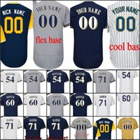 Wholesale custom wine coolers - Men Milwaukee 51 Oliver Drake 54 Taylor Williams 57 Chase Anderson 60 J.J. Hoover 71 Josh Hader Cool Flex Base Custom baseball Jersey