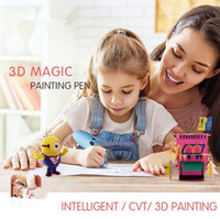 Wholesale learn arts for sale - 2018 D Printer Magic Painting Pen Children Drawing Toys DIY Designer Modeling Coloring Arts D Paint Pen Kids Learning Education Toy