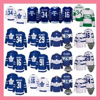 Wholesale m leaf - 91 John Tavares MEN Youth women Toronto Maple Leafs 34 Auston 16 Mitchell Marner 29 william nylander morgan rielly hockey Jersey stitched