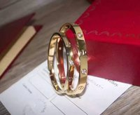 Wholesale High Quality Screwdriver Set - High quality 316L Stainless Steel carter love bracelet bangles Couple Screwdriver bracelets & bangles with stones Women men wedding Jewelry