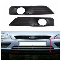 Wholesale grille lighting online - Fog Lamp Grille Front Lower Side Bumper Fog Light Cover for Ford Focus Black Auto Side Hole Grills DDA306