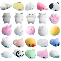 Wholesale panda rabbit - Squishy Slow Rising Jumbo Toy Bun Toys Animals Cute Kawaii Squeeze Cartoon Toys Mini Squishies Cat rabbit seal panda Fashion kids Gifts