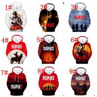 roter kapuzenmantel großhandel-12 Design RDR Red Dead Redemption 2 Kapuzenpullover Sweatshirt Lässig übergroßer Kapuzenpullover Mantel Sweatshirt Kapuzenpullover Pullover Kinder / Erwachsene KKA6286
